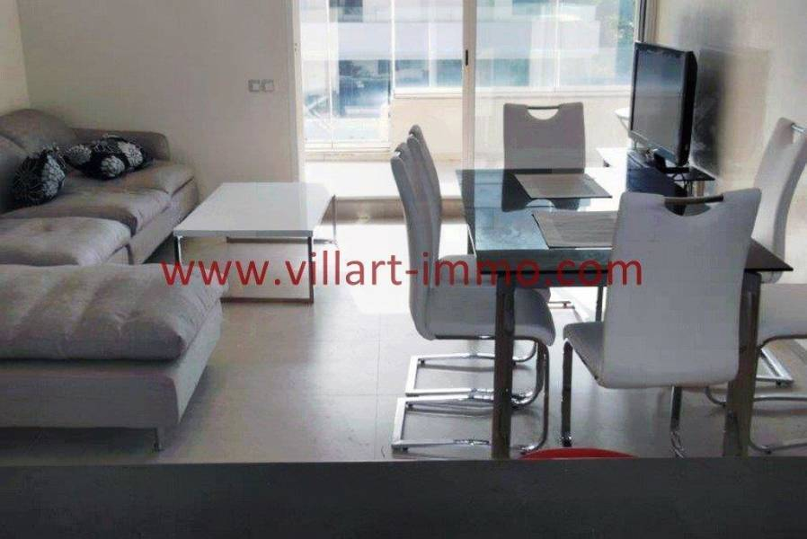 Villartimmo-3-Location-Appartement-F3-Meuble-Tanger-Salon-TV-Acces-Terrasse-L1114-Villart-immo